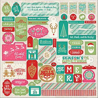 Colorful Christmas Cardstock Stickers 12