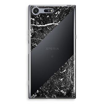 Sony Xperia XZ Premium Transparent Case - Black marble