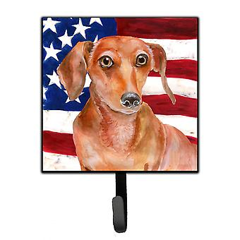 Carolines Treasures  BB9707SH4 Red Dachshund Patriotic Leash or Key Holder