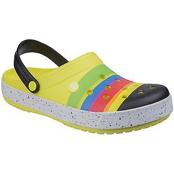 Mujeres/damas de Crocs Crocband color Burst Zuecos de verano ligero