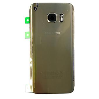 Samsung battery door cover for Galaxy S7 edge G935 G935F + adhesive pad gold