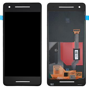 Pantalla completa LCD unidad táctil repuestos para reparación de píxeles 2 Google negro nuevo