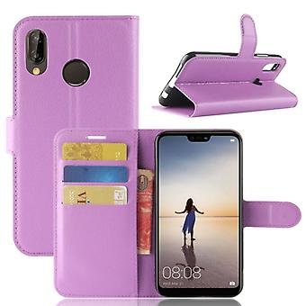 Pocket wallet premium purple for Huawei P20 Lite protection sleeve case cover pouch new accessories