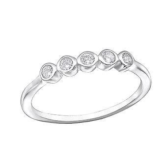 Round - 925 Sterling Silver Cubic Zirconia Rings - W30978X