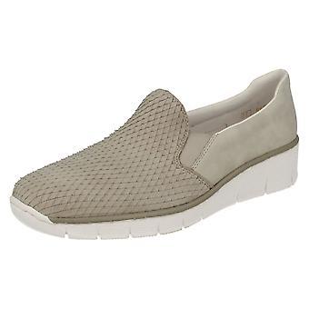 Ladies Rieker Slip On Casual Shoes 53766