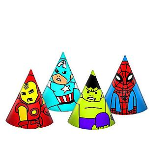 Avengers team power super hero party hats 6 piece children birthday theme party