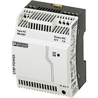 Phoenix Contact STEP-PS/1AC/12DC/5 Rail mounted PSU (DIN) 12 Vdc 5 A 60 W 1 x