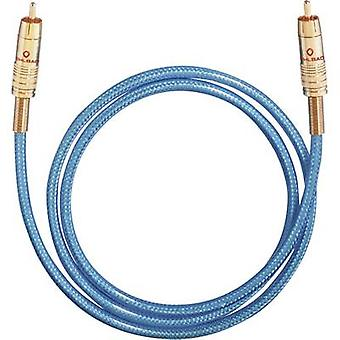 Oehlbach Digital digitale Audio-Cinchkabel [1 x CINCHSTECKER (Cinch) - 1 X RCA-Stecker (Cinch)] 5 m Blau