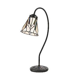 Intérieurs 1900 Astoria Goose Neck Tiffany Desk Lamp