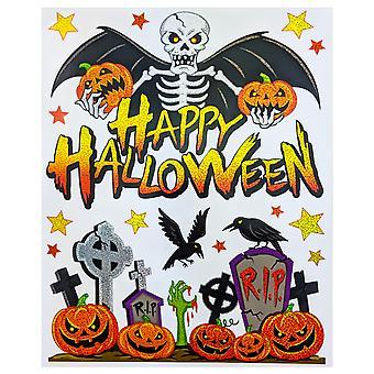 Laser Halloween venster kleeft - begraafplaats
