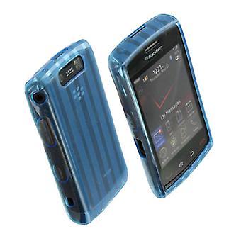 OEM Verizon High Gloss Silicone Case for BlackBerry Storm 2 (Blue) (Bulk Packagi