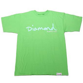 Diamond Supply Co Og Skript T-shirt hellgrün