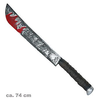 Sanguinosa machete 74cm Halloween horror accessori
