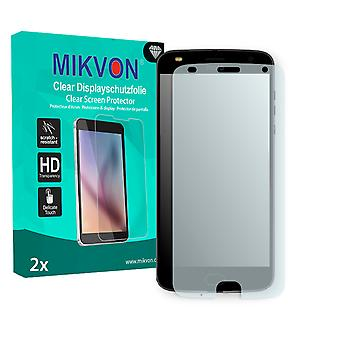 Lenovo Moto Z2 Play Screen Protector - Mikvon Clear (Retail Package with accessories) (intentionally smaller than the display due to its curved surface)
