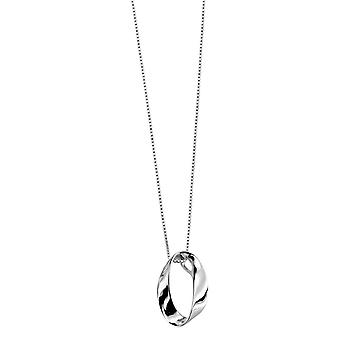 Elements Silver Open Twist Oval Pendant - Silver