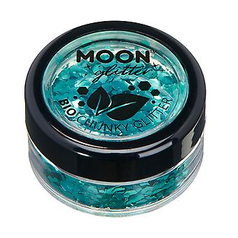 Biodegradable Eco Chunky Glitter by Moon Glitter - 100% Cosmetic Bio Glitter for Face, Body, Nails, Hair and Lips - 3g - Turquoise