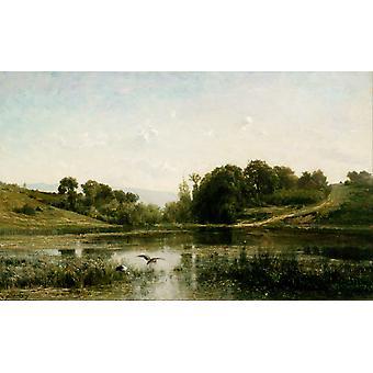 Landscape at Gylieu,Charles-Francois Daubigny,60x40cm
