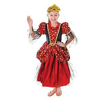 Gold Star Princess vestido (edad media 6-8)