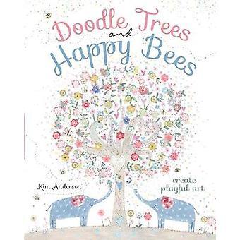 Doodle arbres et abeilles heureux - créer Art ludique par Kim Anderson - 978