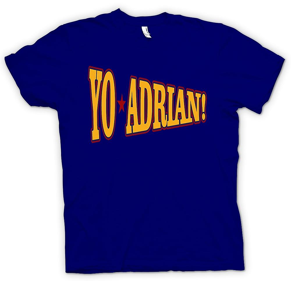 Mens T-shirt - Rocky Balboa Yo Adrian - Funny