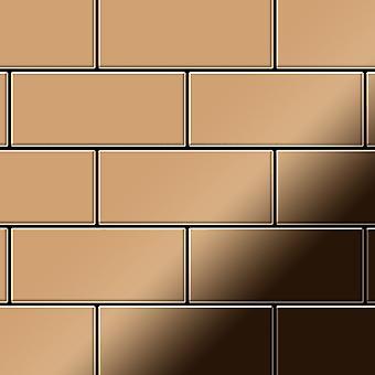 Mosaico de metal sólido Titanio ALLOY Subway-Ti-AM