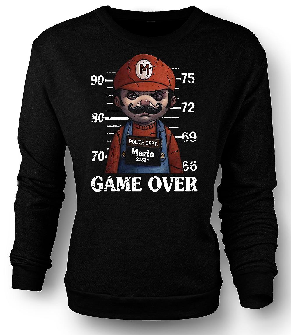 Mens Sweatshirt Mario - Mug Shot - Funny