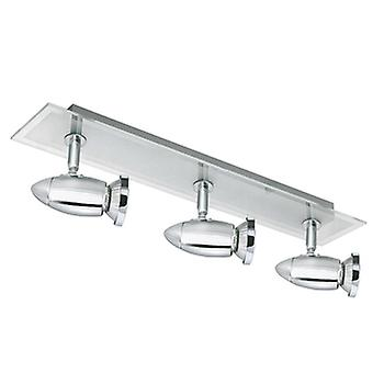 Searchlight 8763CC Halogen Chrome 3 Light Spotlight