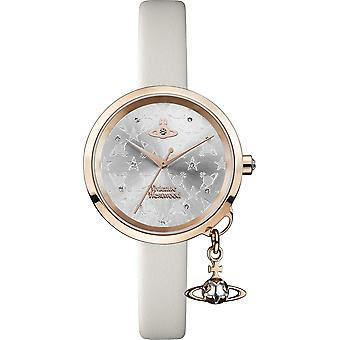 Vivienne Westwood Exclusive Bow Rose Gold Steel Case Cream Leather Strap Ladies Watch VV139WGYCM 32mm