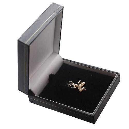 9ct Gold 17mm solid Isle of Man charm