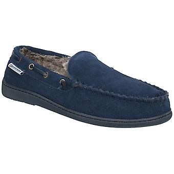 Lambretta Mens Warwick Moccasin Fluffy Lined Full Slippers