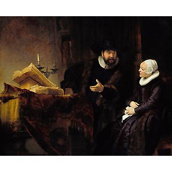 Double Portrait of Cornelis Claesz Anslo. and, Rembrandt, 50x40cm