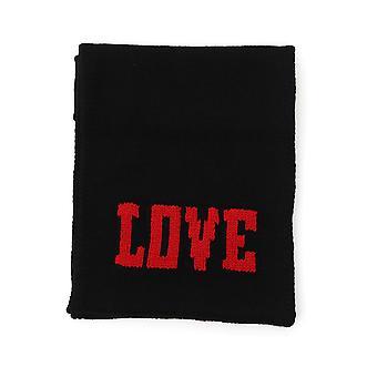 Dolce E Gabbana Black Cashmere Scarf