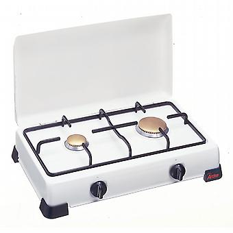 Double cooker to LPG gas. Steel Grill