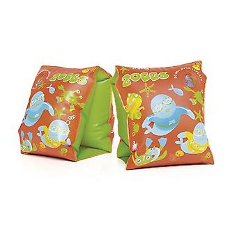 Zoggs Zoggy Swimbands - 1-6 Years - Orange/Green