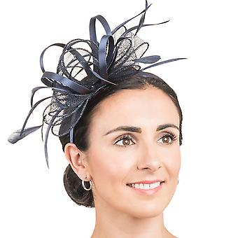 Hawkins Collection Womens/Ladies Beaded Bow And Feather Fascinator