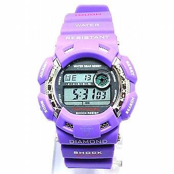 Kingmaster damer diamant chok Digital gummi rem Sports Watch DW214