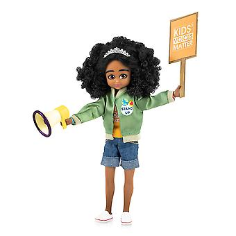 Lottie Doll Kid Activist Figure with Outfit Accessory Set Tangle Resistant Hair