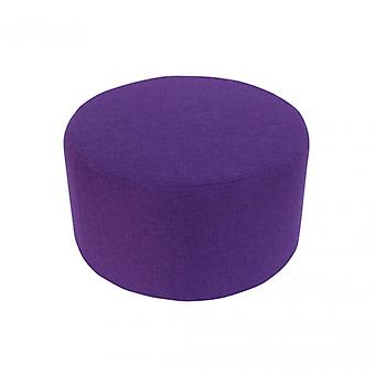 Rebecca furniture ottoman footstool with wood upholstery violet fabric modern room