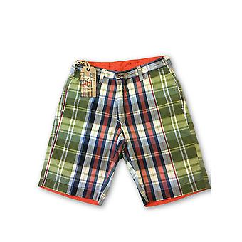 Tailor vintage vändbara shorts i multi Madras/orange