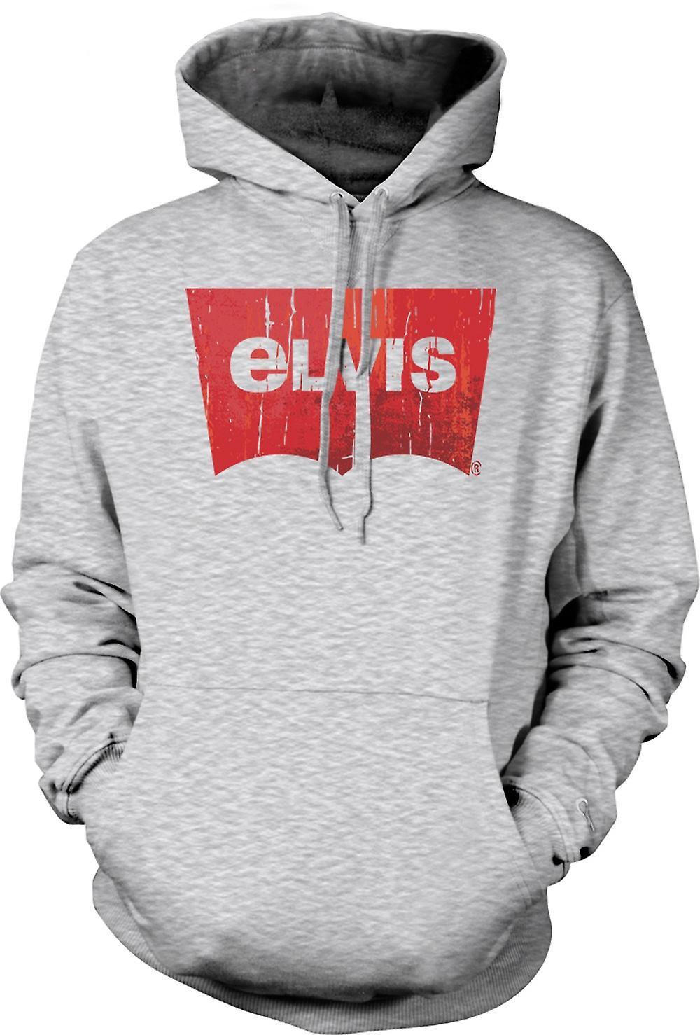 Mens-Hoodie - Elvis - Levis inspiriert
