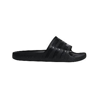 adidas Adilette Aqua Mens Flip Flop Slide Sandal Triple Noir