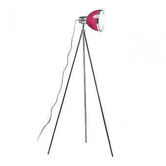 Premier Home vloer lamp, chroom, roze