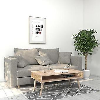 Coffee table with storage compartment-oak color