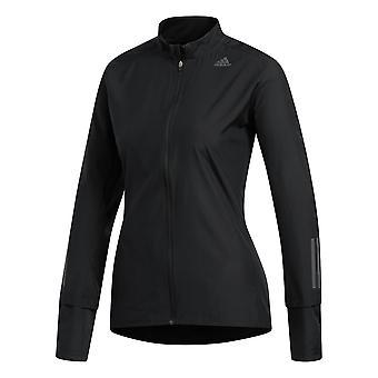 adidas Response Womens Ladies Running Fitness Jacket Coat Black