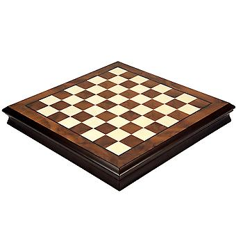 20 Inch Briarwood and Maple Chess Cabinet with Removable Lid