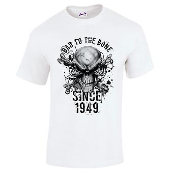 Men's 70th Birthday T-Shirt Bad To The Bone 1949 Gifts For Him
