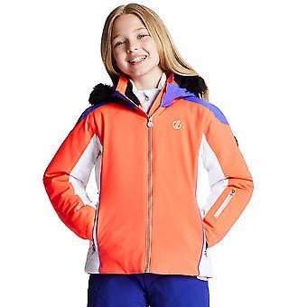 Dare 2b Mädchen riesige Wasser abstoßende Kapuzen Ski Mantel Jacke