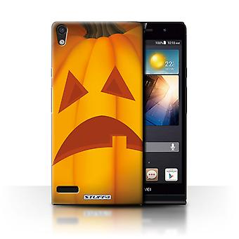 STUFF4 Case/Cover for Huawei Ascend P6/Sad/Halloween Pumpkin