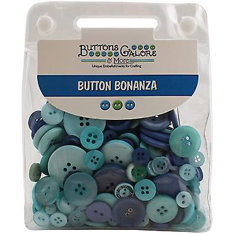 Button Bonanza .5lb Assorted Buttons-Ocean Blue BB-22