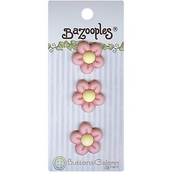 Bazooples Buttons Pink Flowers Bz 132
